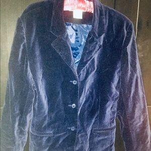 BLUE VELVET blazer vintage 80s